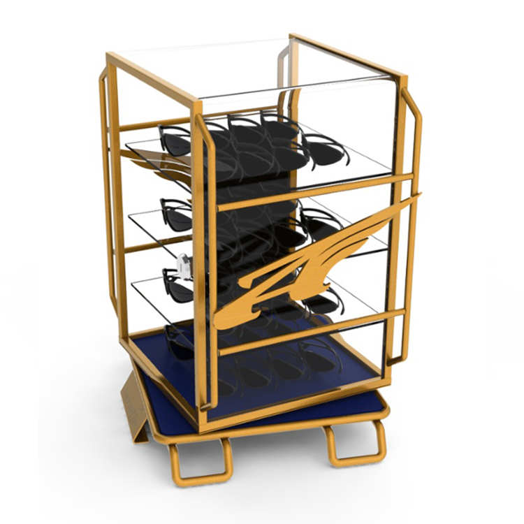 Yellow Metal Frame Eyewear display stand